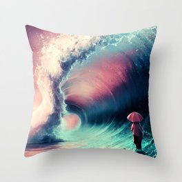 Cross over together Throw Pillow