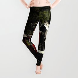 Black Hills Diesel Locmotive # 63 Abstract Leggings