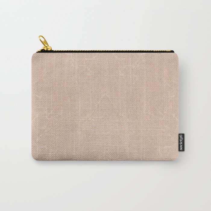Ecru canvas cloth texture abstract Carry-All Pouch