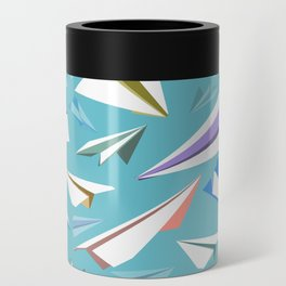 Aeroplanes - Paper Airplanes Pattern Can Cooler