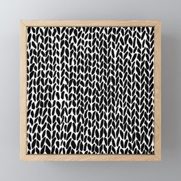 Hand Knit Zoom Framed Mini Art Print