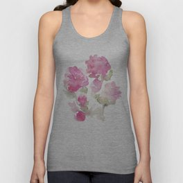 Watercolor Flowers Unisex Tank Top