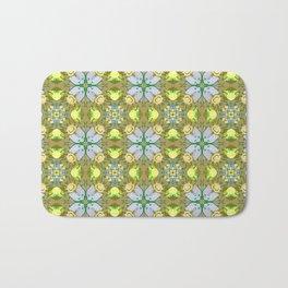 Abstract flower pattern 5a Bath Mat