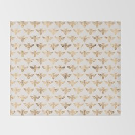 Honey Bees (Sand) Throw Blanket