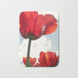 Flower Photography, Deep Ruby Red Art Print, Autumn, Home Decor Nursery Decor  Nature 8x10 Bath Mat