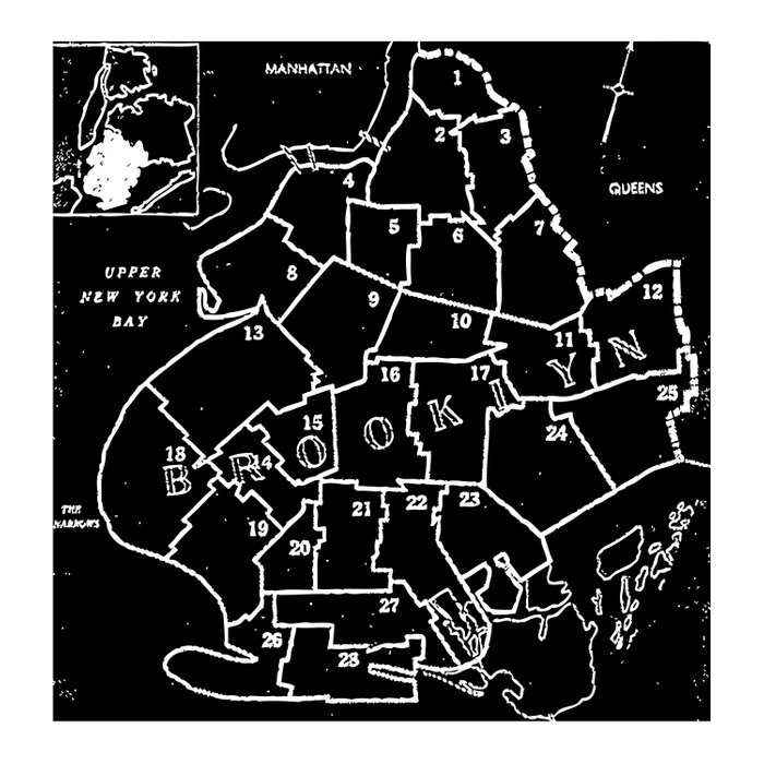 Brooklyn Vintage Map 1957 Duvet Cover