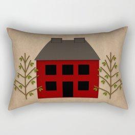 Primitive Country House Rectangular Pillow