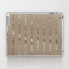Rose gold stripes on natural grain Laptop & iPad Skin