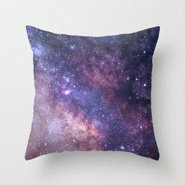 Purple Galaxy Star Travel Throw Pillow