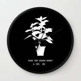 Green Herb Wall Clock