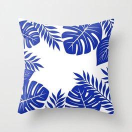 Paradise in cobalt Throw Pillow