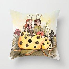 Ladybug Friends Throw Pillow