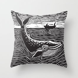 Ballena Azul Throw Pillow