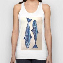 Blue fishes- Poissons bleus Unisex Tank Top