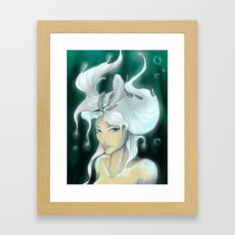 Don't trust the mermaid Framed Art Print