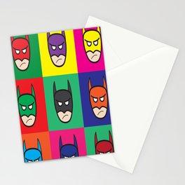 Bat-Popart-Man Stationery Cards
