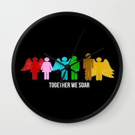Together we soar Wall Clock