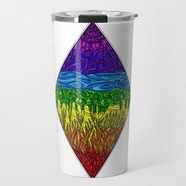 Geometric Rainbow Seven Chakras Travel Mug