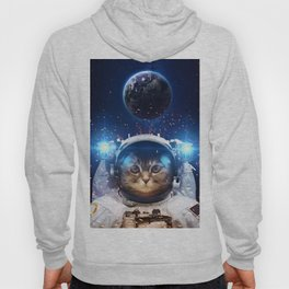 Beautiful cat in outer space Hoody