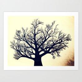 Tree Dark Art Print