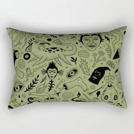 Curious Collection No. 2  Rectangular Pillow