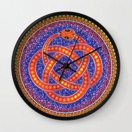 Red Celtic Snake Wall Clock