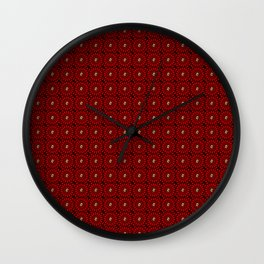 Muster - rote Blumen Wall Clock