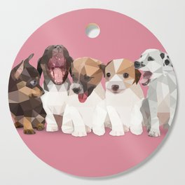 Low Poly Puppies Cutting Board