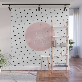 Merry Scandinavian Christmas - Polka dots and Typography Wall Mural