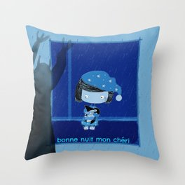 Bonne nuit mon cheri Throw Pillow