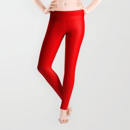 Christmas Red Solid Cheery Red Leggings
