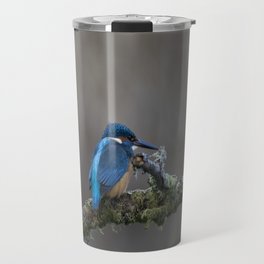Kingfisher on a Branch Travel Mug
