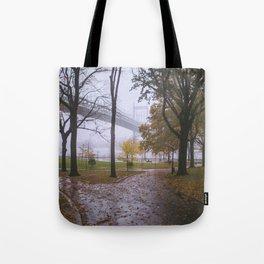 Rainy Autumn in Astoria Park Tote Bag
