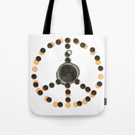 Solar Eclipse – Peace on Earth Tote Bag