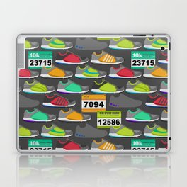Running Shoes and Race Bibs Laptop & iPad Skin