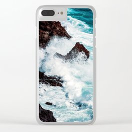 CONFRONTING THE STORM Clear iPhone Case