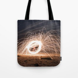 Woolspinning at the Beach Tote Bag