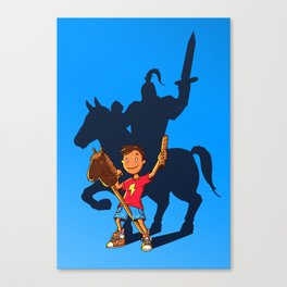 Knight in Shining Armor Canvas Print