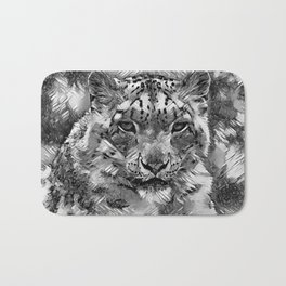 AnimalArtBW_Leopard_20170601_by_JAMColorsSpecial Bath Mat
