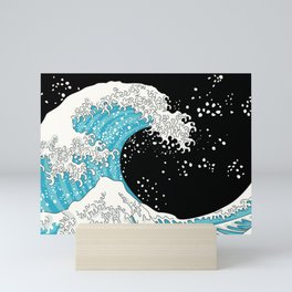 The Great Wave (night version) Mini Art Print