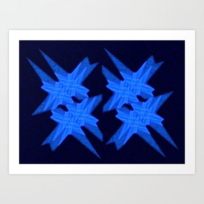 Blue Crystals Art Print