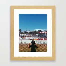 See the Races Framed Art Print