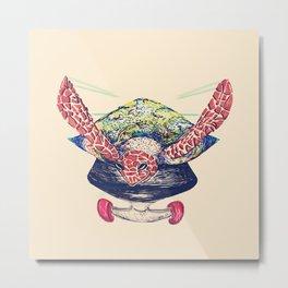 Swifty Turtle Metal Print