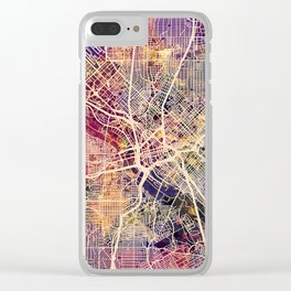 Dallas Texas City Map Clear iPhone Case