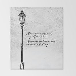 Chronicles of Narnia - Some adventures - CS Lewis Throw Blanket