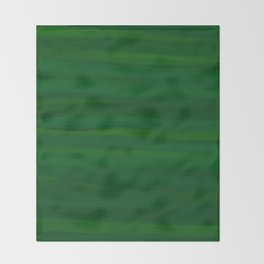 Emerald Green Stripes Abstract Throw Blanket
