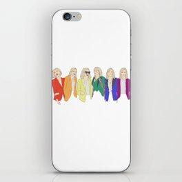 Cate Blanchett - Rainbow Pride Flag iPhone Skin