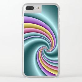 fluid -82- Clear iPhone Case