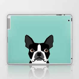 Logan - Boston Terrier pet design with bold and modern colors for pet lovers Laptop & iPad Skin