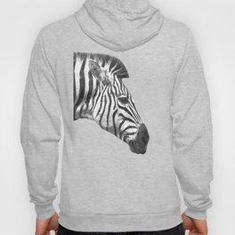 Black and White Zebra Profile Hoody